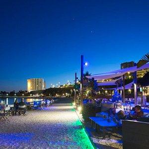 Night falls over Salitos Bar