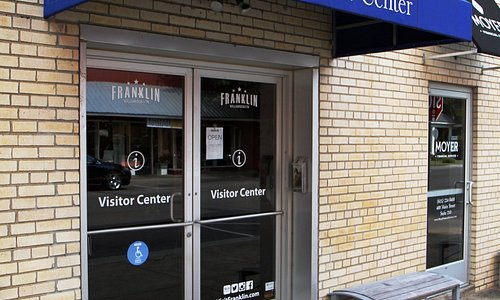 The entrance to the Visitor Center is at the corner of 4th and Main Street in Downtown Franklin.