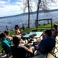 Patio Time: Enjoy great times and views on our lakefront patio. Only one in town!
