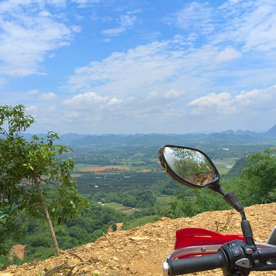 The view from the mountains south of Hanoi.