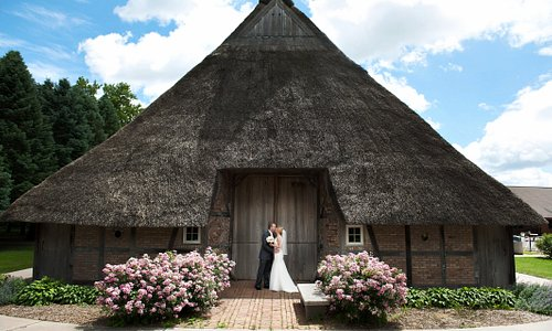 Picturesque weddings are held at German Hausbarn at the Manning Hausbarn-Heritage Park.