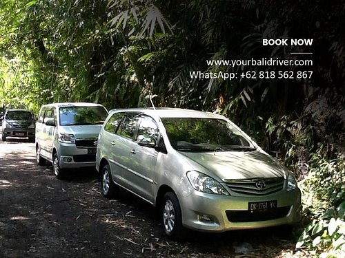 Our comfortable car in Bali.