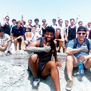 На грязевых вулканах с группой из Голландии \ On mud volcanoes with a group from Holland