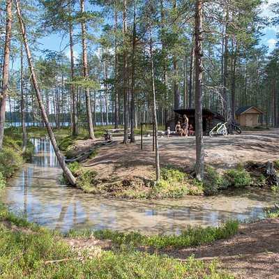 Muikkupuro lean-to shelter is a summer time gem, also suitable for disabled. Pic: Tuuli Turunen