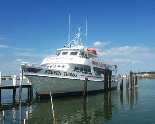 Cruise to Tangier aboard the Steven Thomas, a 90' vessel with air-conditioned lounge & sun deck.