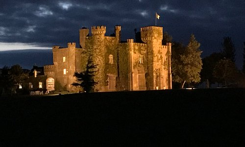 Lisheen Castle at night.