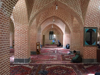 One of the mosque's prayer halls.