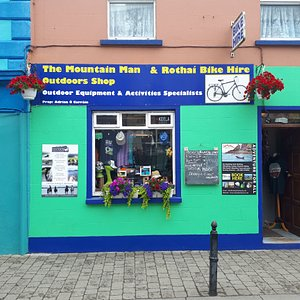 The Mountain Man Outdoors Shop, Bike Hire, Activities Booking Office, Tourist Info & More