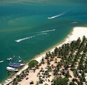 Linda praia do gunga vista do mirante + informaçoes 82 9 99471361 whats