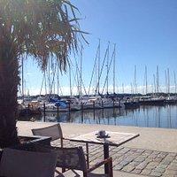 Blick auf den Yachthafen Schleswig
