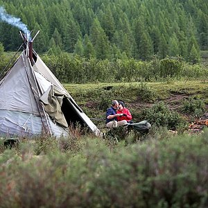 Australian Shark Tank Naomi traveled with Nomadic Trails to Reindeer herder's camp