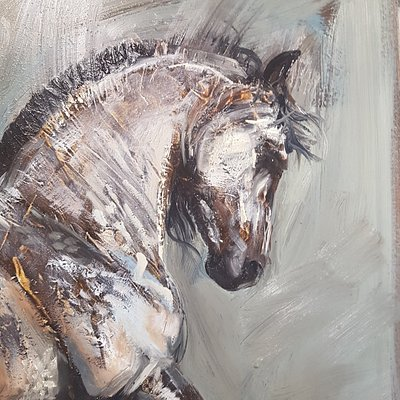 An example of some of artist and gallery owner, April Young's paintings