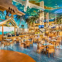Margaritaville Restaurant - Live performance stage and floor seating