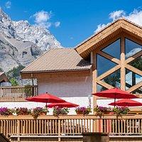Alpha Bistro Summer Patio - at the Banff Rocky Mountain Resort