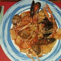 Paccheri  all´osteria da Rudy (fruto de mar)