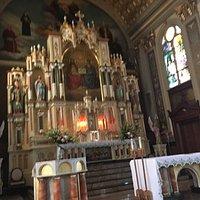 Rear organ view and main altar