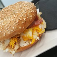 Bagels Egg and bacon
