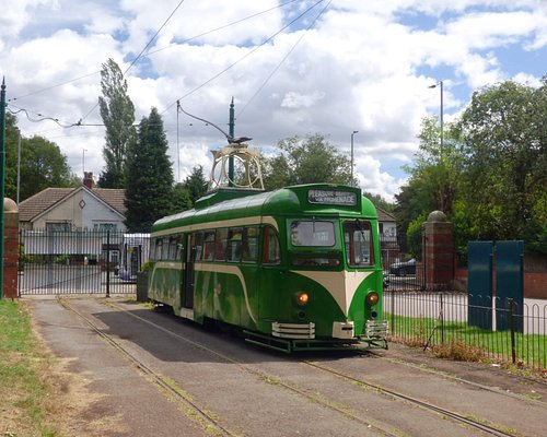 Ex-Blackpool Railcar at the original terminus of the Heaton Park tramway