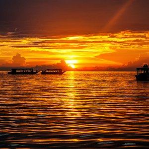 Beautiful Sunset in Kompong Phluk