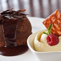 hocolate Lava Cake - Served with Vanilla Ice Cream