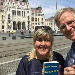 In front of the Hungarian Parliament with Rick