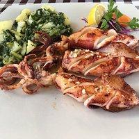Calamari mit Mangoldkartoffel