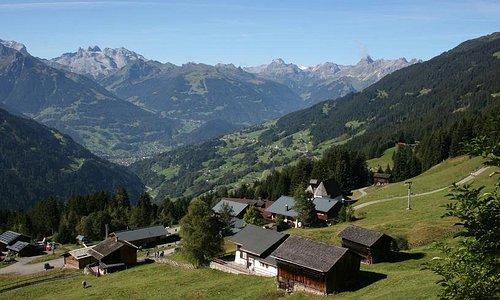 Panoramablick vom Kristberg im Silbertal, dem Genießerberg im Montafon