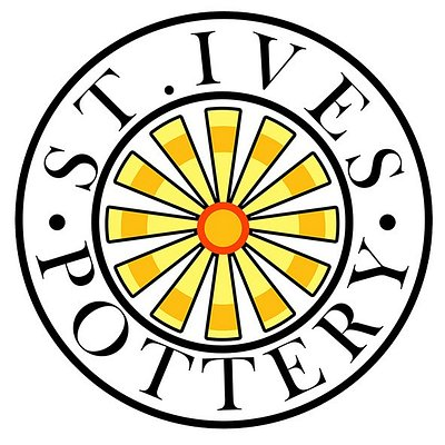 St. Ives Pottery Logo, we are based inside RAAR Emporium in The Drill Hall.
