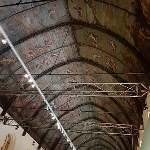 Beautfiul ceiling in the historic exhibition hall