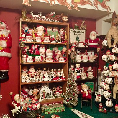 Check out Santa on the Left side! I found him at Mockingbird Antiques!