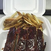 1/3 rack and fresh cut fries $11.50