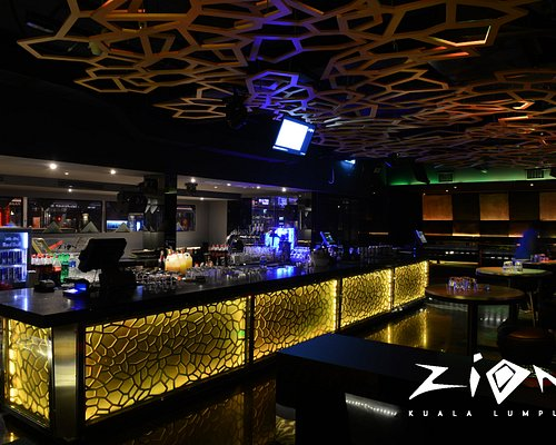 Bar counter, interior perspective of 808, ZION club KL