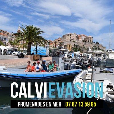 Venez nous rencontrer sur le port de Calvi face à l'office du tourisme!