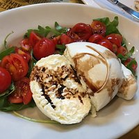 Huge Burrata Served w/rocket and tomatoes - 2d Dinner