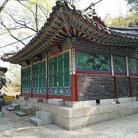 At Waryongmyo Shrine on the way up Namsan Park