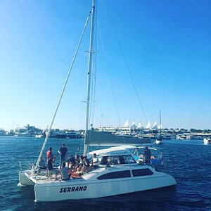 """""""Serrano"""" departing Mariner's Cove."""