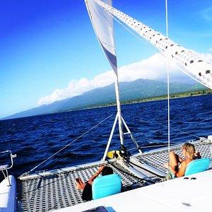Sail the beautiful Taveuni coast and surrounding islands aboard QUIXOTIC!