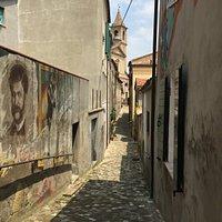 Galleria d'arte all'aperto, raccolta di murales tra i vicoli