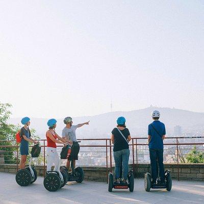 Montjuic segway tour of Barcelona