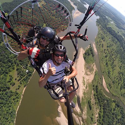 Tandem Powered Paragliding Lesson near Wisconsin Dells