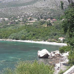 Secluded beach at Plat.