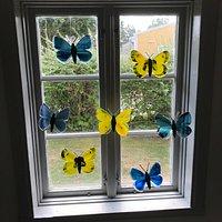 Glass Butterfly Sculptures