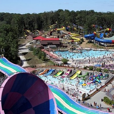 Holiday World's water park, Splashin' Safari, includes the world's two longest water coasters.