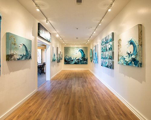 Interior view of the Justin Gaffrey Gallery