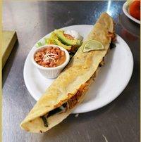 """20"""" long handmade filled corn tortilla"""