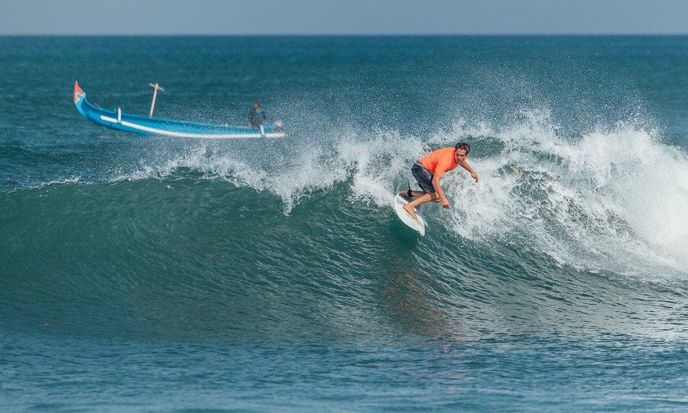 Pro surfer at Pererenan beach