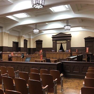 Jury Court Room at Suekawa Memorial Hall (Ritsumeikan University)