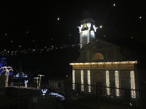 La chiesa nel periodo natalizio