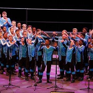 The Drakensberg boys Choir performing Pop Music at the World Choir Games 2018.