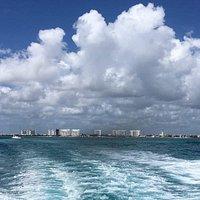 Saliendo de Puerto Juarez hacia Isla Mujeres